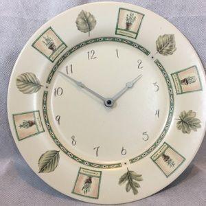 """Pfaltzgraff Naturewood 11"""" Wall Clock Plate"""